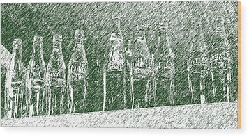 Wood Print featuring the photograph Old Coke Bottles by Greg Reed