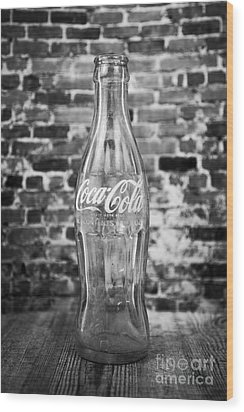 Old Cola Bottle Wood Print by Serene Maisey