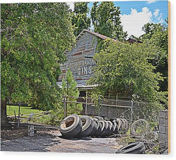 Old Cotton Gin Wood Print
