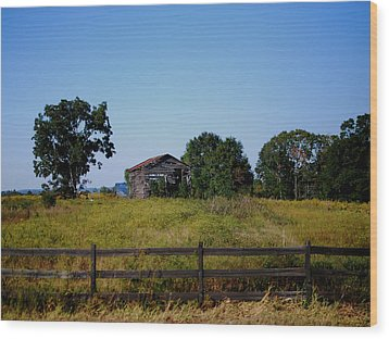 Old Country Barn Wood Print by Maggy Marsh
