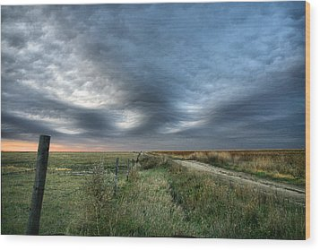Wood Print featuring the photograph Old Country Road by Shirley Heier