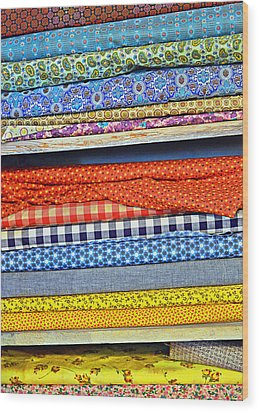 Old Country Store Fabrics Wood Print by Christine Till