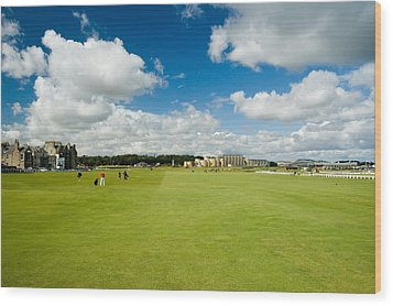 Old Course Fairways Wood Print