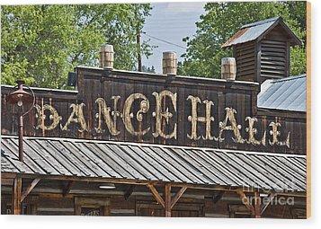 Old Dance Hall Wood Print