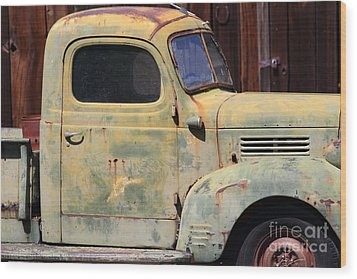 Old Dodge Truck 7d22382 Wood Print by Wingsdomain Art and Photography