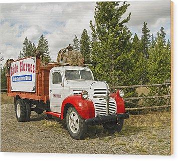 Old Dodge Truck Wood Print