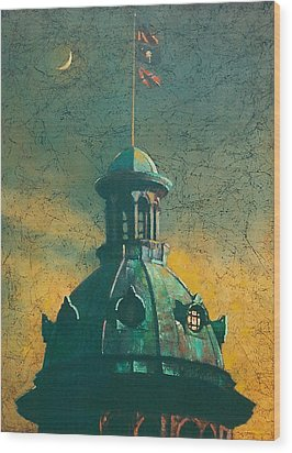 Old Dome Wood Print by Blue Sky