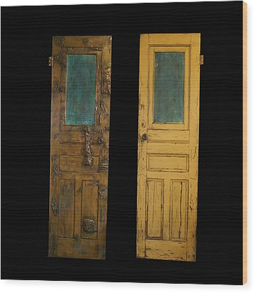 Old Door Wood Print by Christopher Schranck