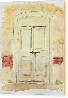 Old Door Wood Print by Keshava Shukla