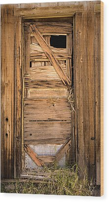 Old Door Wood Print