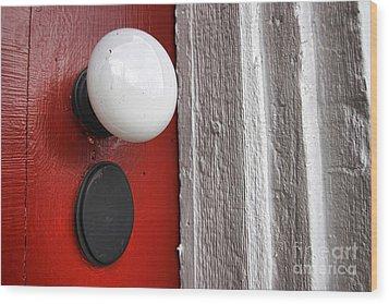 Old Doorknob Wood Print by Olivier Le Queinec