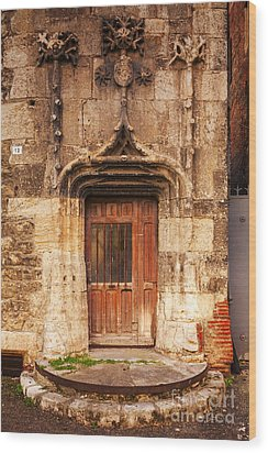 Old Doorway Cahors France Wood Print