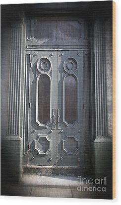 Old Doorway Quebec City Wood Print by Edward Fielding