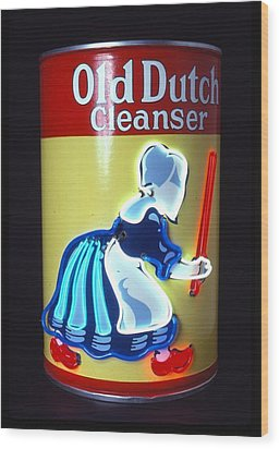 Old Dutch Cleanser Wood Print by Pacifico Palumbo