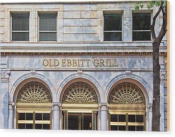Old Ebbitt Grill Wood Print