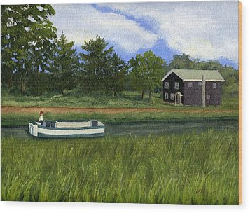 Wood Print featuring the painting Old Erie by Lynne Reichhart