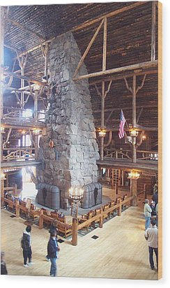 Old Faithful Inn Wood Print