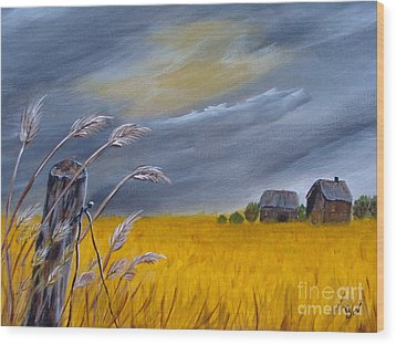 Old Farm 1 Wood Print by Beverly Livingstone