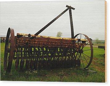 Old Farm Equipment Wood Print by Jeff Swan