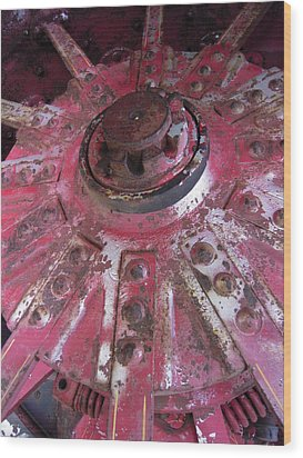 Wood Print featuring the photograph Old Farm Tractor Detail by Don Struke