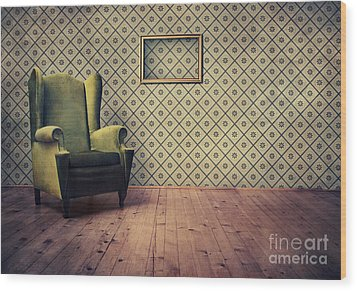 Old Fashioned Armchair Wood Print by Jelena Jovanovic