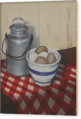 Old Fashioned Breakfast Wood Print
