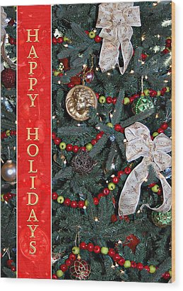 Old Fashioned Christmas Wood Print by Carolyn Marshall