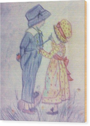 Old Fashioned Romance Wood Print by Christy Saunders Church