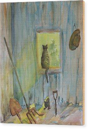 Old Favorite Tools Wood Print by Barbara McGeachen
