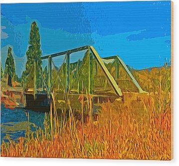 Old Firehole Bridge Wood Print