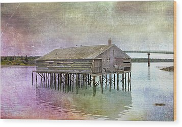 Old Fishing Pier  Wood Print by Betty  Pauwels