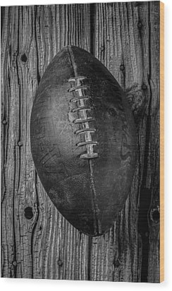 Old Football Wood Print