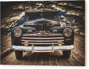 Wood Print featuring the photograph Old Ford 2 ... by Chuck Caramella