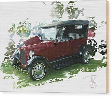 Old Ford Wood Print