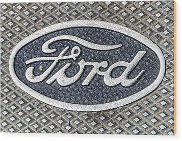 Old Ford Symbol Wood Print