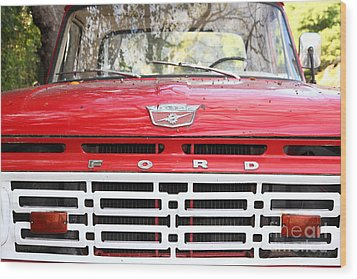 Old Ford Truck 5d22422 Wood Print by Wingsdomain Art and Photography