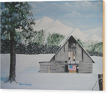 Old Forgotten But Still Proud Wood Print by Norm Starks