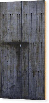 Old Fort Door Wood Print