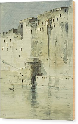 Old Fortress Naples Wood Print by Childe Hassam