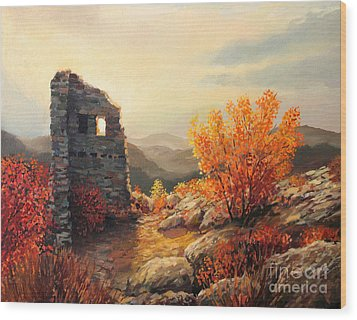 Old Fortress Ruins Wood Print by Kiril Stanchev