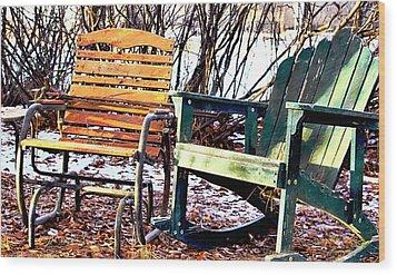 Old Friends In February Sunlight Wood Print by Aliceann Carlton