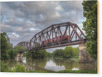 Old Frisco Bridge Wood Print by James Barber