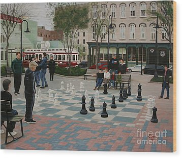 Old Galveston Square Wood Print by Jimmie Bartlett