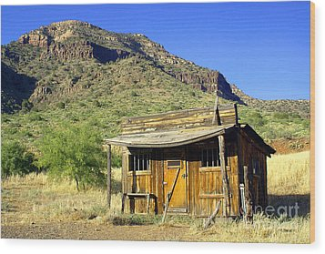 Old General Store - Salt River Canyon Wood Print by Douglas Taylor