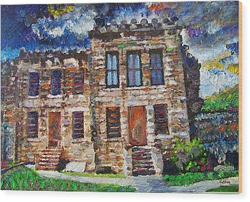 Old Georgetown Jail Wood Print by GretchenArt FineArt