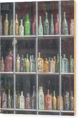 Old Glass Wood Print by Brenda Bryant