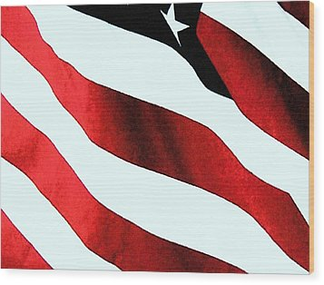Old Glory Wood Print by Dan Twyman