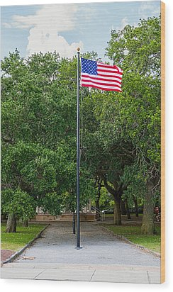 Wood Print featuring the photograph Old Glory High And Proud by Sennie Pierson