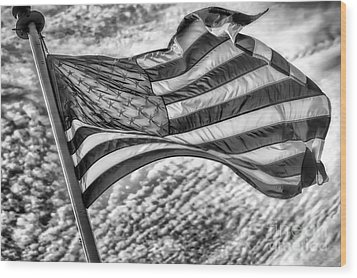 Old Glory Wood Print by Jack Torcello