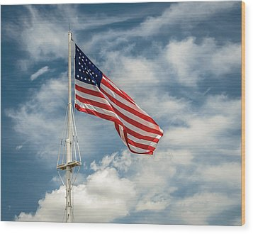 Old Glory Wood Print by James Barber